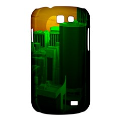 Green Building City Night Samsung Galaxy Express I8730 Hardshell Case