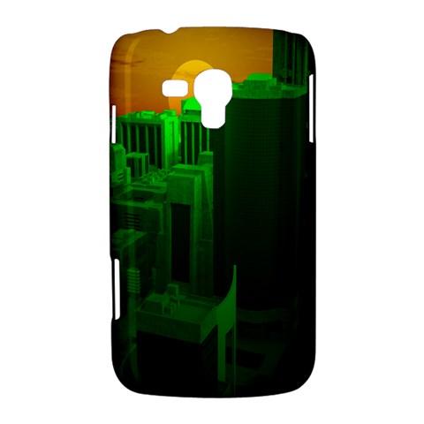 Green Building City Night Samsung Galaxy Duos I8262 Hardshell Case