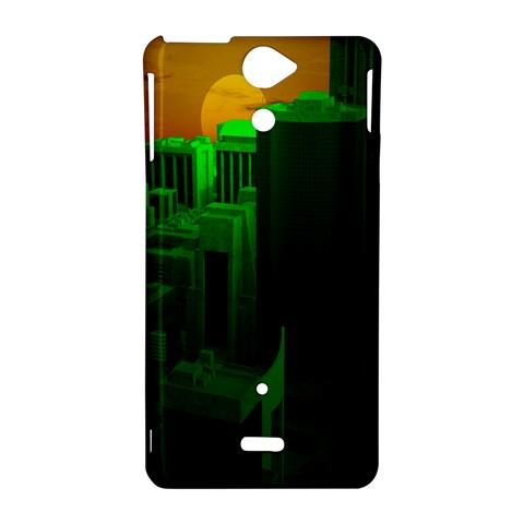 Green Building City Night Sony Xperia V