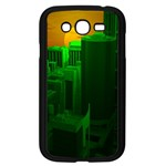 Green Building City Night Samsung Galaxy Grand DUOS I9082 Case (Black) Front