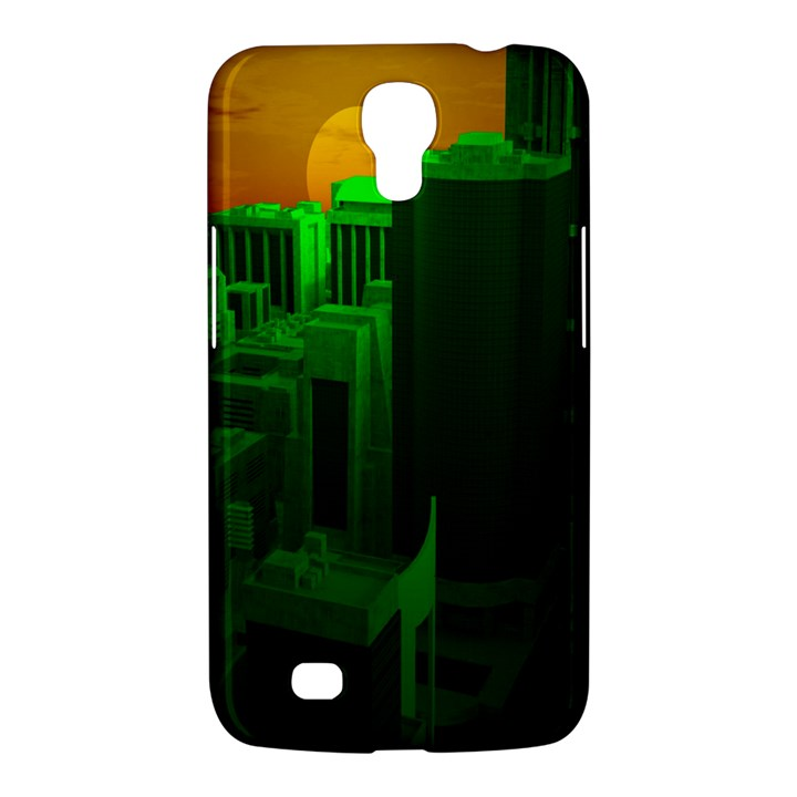 Green Building City Night Samsung Galaxy Mega 6.3  I9200 Hardshell Case
