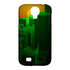Green Building City Night Samsung Galaxy S4 Classic Hardshell Case (PC+Silicone)