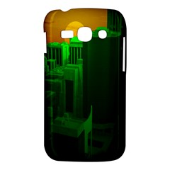 Green Building City Night Samsung Galaxy Ace 3 S7272 Hardshell Case