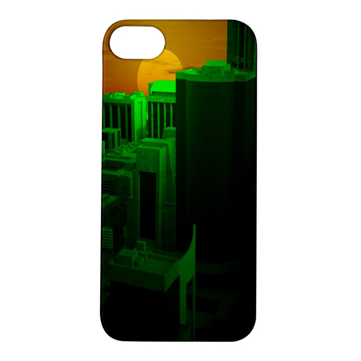 Green Building City Night Apple iPhone 5S/ SE Hardshell Case