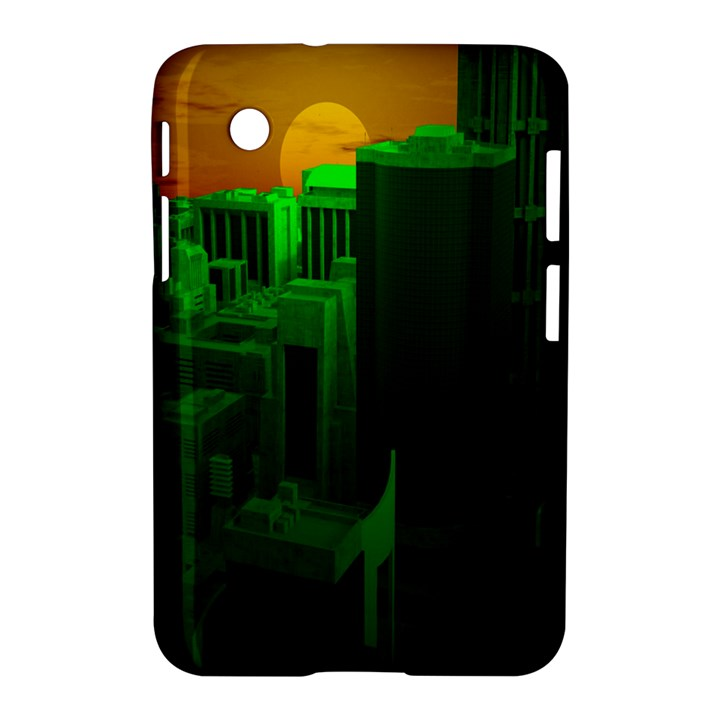 Green Building City Night Samsung Galaxy Tab 2 (7 ) P3100 Hardshell Case