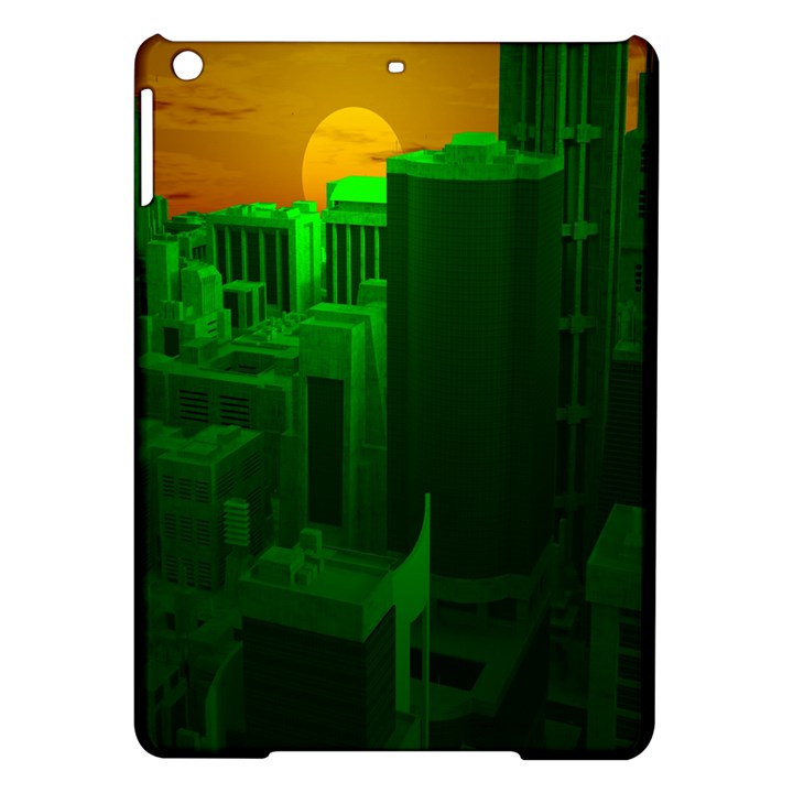 Green Building City Night iPad Air Hardshell Cases