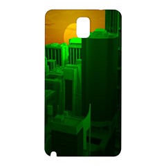 Green Building City Night Samsung Galaxy Note 3 N9005 Hardshell Back Case