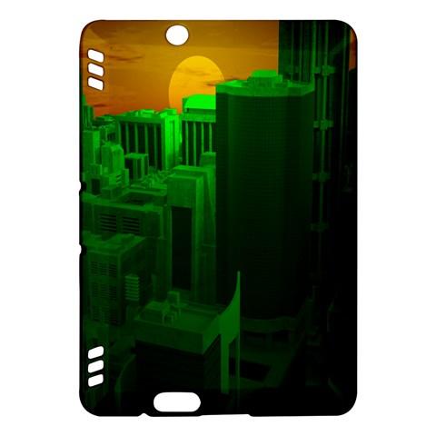 Green Building City Night Kindle Fire HDX Hardshell Case