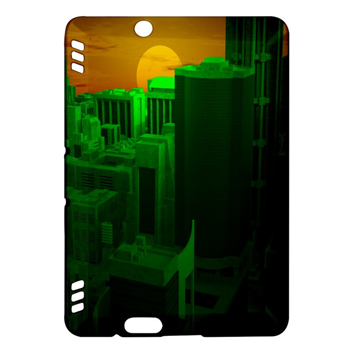 Green Building City Night Kindle Fire HDX Hardshell Case