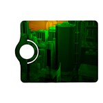 Green Building City Night Kindle Fire HD (2013) Flip 360 Case Front