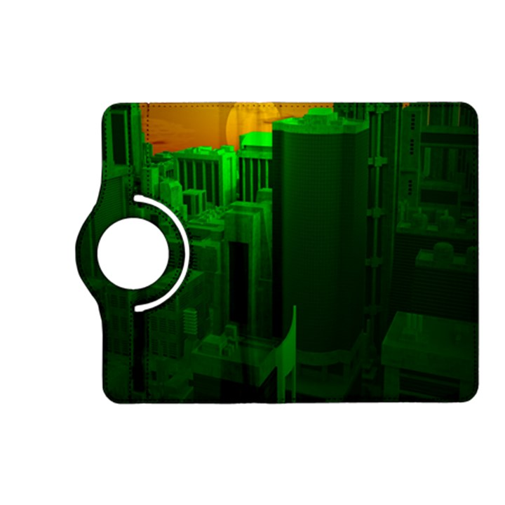 Green Building City Night Kindle Fire HD (2013) Flip 360 Case