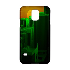 Green Building City Night Samsung Galaxy S5 Hardshell Case