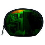 Green Building City Night Accessory Pouches (Medium)  Front