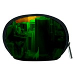 Green Building City Night Accessory Pouches (Medium)  Back