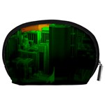 Green Building City Night Accessory Pouches (Large)  Back