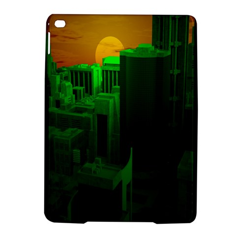 Green Building City Night iPad Air 2 Hardshell Cases