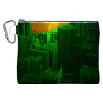 Green Building City Night Canvas Cosmetic Bag (XXL) Front