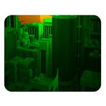 Green Building City Night Double Sided Flano Blanket (Large)   Blanket Back