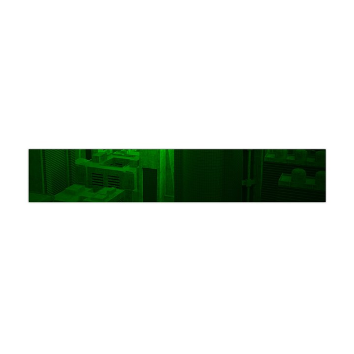 Green Building City Night Flano Scarf (Mini)