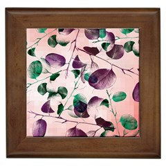 Spiral Eucalyptus Leaves Framed Tiles