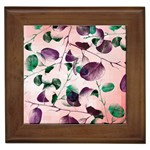 Spiral Eucalyptus Leaves Framed Tiles Front