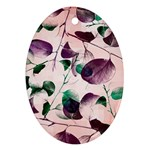 Spiral Eucalyptus Leaves Ornament (Oval)  Front