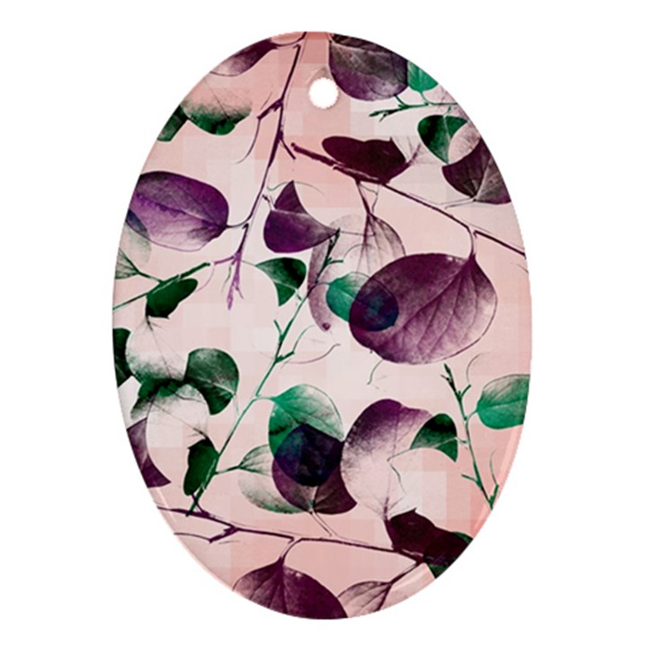 Spiral Eucalyptus Leaves Ornament (Oval)