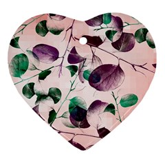 Spiral Eucalyptus Leaves Ornament (Heart)