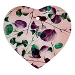 Spiral Eucalyptus Leaves Ornament (Heart)  Front