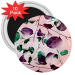 Spiral Eucalyptus Leaves 3  Magnets (10 pack)  Front