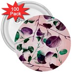 Spiral Eucalyptus Leaves 3  Buttons (100 pack)  Front