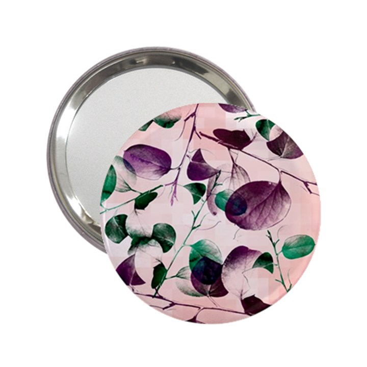 Spiral Eucalyptus Leaves 2.25  Handbag Mirrors