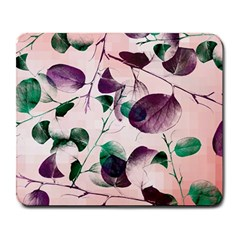 Spiral Eucalyptus Leaves Large Mousepads