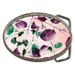 Spiral Eucalyptus Leaves Belt Buckles Front