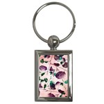 Spiral Eucalyptus Leaves Key Chains (Rectangle)  Front