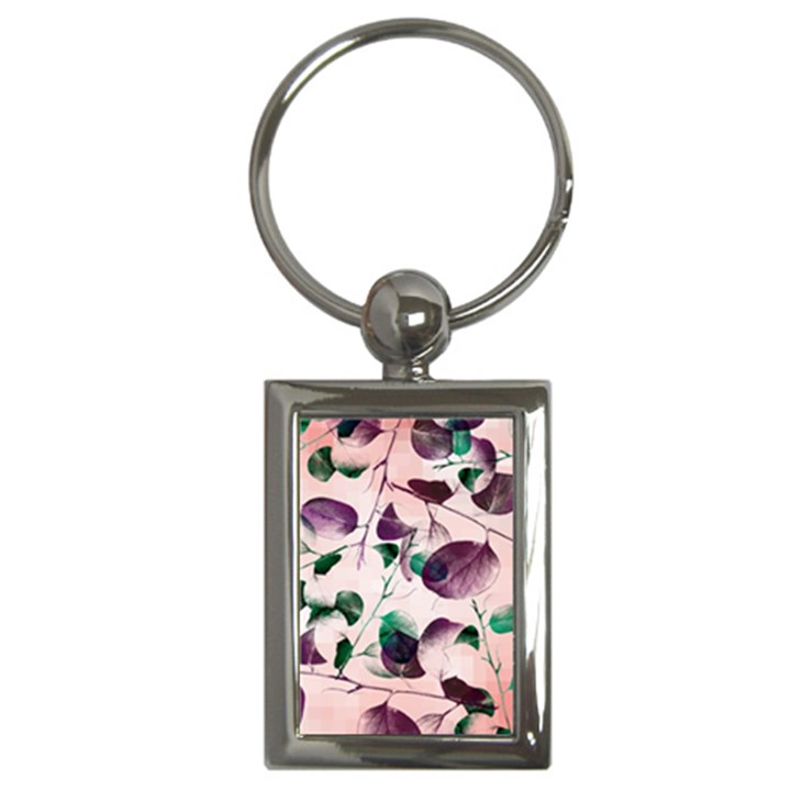 Spiral Eucalyptus Leaves Key Chains (Rectangle)