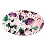 Spiral Eucalyptus Leaves Oval Magnet Front