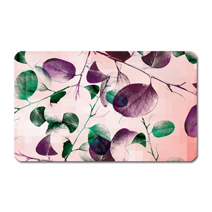 Spiral Eucalyptus Leaves Magnet (Rectangular)