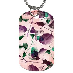 Spiral Eucalyptus Leaves Dog Tag (two Sides)
