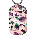 Spiral Eucalyptus Leaves Dog Tag (Two Sides) Front