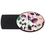 Spiral Eucalyptus Leaves USB Flash Drive Oval (2 GB)  Front