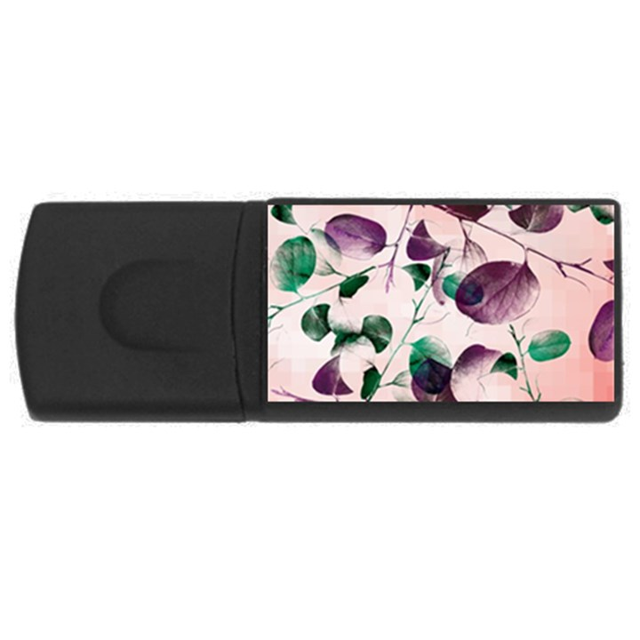 Spiral Eucalyptus Leaves USB Flash Drive Rectangular (2 GB)
