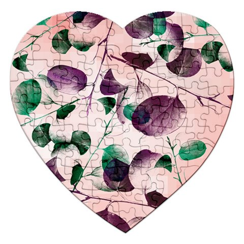 Spiral Eucalyptus Leaves Jigsaw Puzzle (Heart)