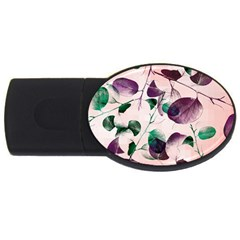 Spiral Eucalyptus Leaves USB Flash Drive Oval (4 GB)
