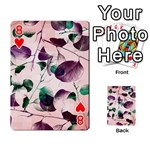 Spiral Eucalyptus Leaves Playing Cards 54 Designs  Front - Heart8