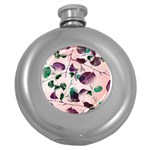 Spiral Eucalyptus Leaves Round Hip Flask (5 oz) Front