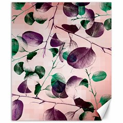 Spiral Eucalyptus Leaves Canvas 8  X 10