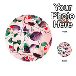 Spiral Eucalyptus Leaves Playing Cards 54 (Round)  Front - Heart2
