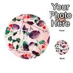 Spiral Eucalyptus Leaves Playing Cards 54 (Round)  Front - Heart6