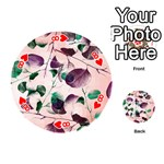 Spiral Eucalyptus Leaves Playing Cards 54 (Round)  Front - Heart8